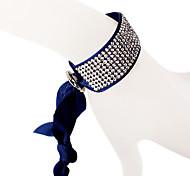 The Eight Rows Diamond Dark Blue Bracelet