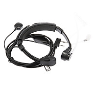3.5mm + 2.5mm Walkie Talkie Flexible Throat-controlled Earphone - Black