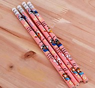 Cartoon HB Pencil with Eraser Cup (4-Pack)