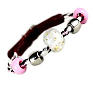 Dog Collar Pink Genuine Leather