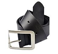 prime de la mode en simili cuir boucle en métal texturé la ceinture des hommes 3798