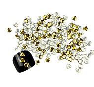 300PCS 3D Golden Love-heart Alloy Nail Art Golden&Silver Decorations