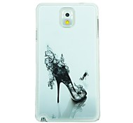 High-Heeled Shoes Leather Vein Pattern Hard Case for Samsung Galaxy Note 3 N9000