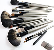 18pcs Makeup Brushes Set High Quality Sable Hair Cosmetic Tools Kit