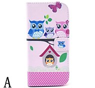 PU Leather Owl Pattern Case for HTC M8