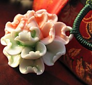 Fashion Handmade Peony Ceramic Necklace