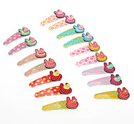 Kid's Rabbit Barrettes Hair Jewelry (Random Color)