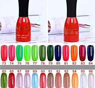 1 Botella Empapa-apagado Falta UV de colores del polaco del gel No.73-96 (15 ml, colores surtidos)