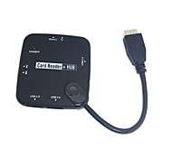 OEM USB 3.0 SD MS TF Card Reader KIT OTG WITH 3 PORT USB HUB for Samsung Galaxy Note3 N900 N9000 & S5 i9600