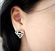 Triangle Geometry S Word Stud Earrings