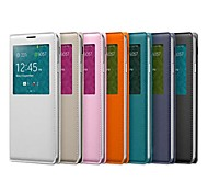 Leather PU Smart Sleep Wake Up Window Case for Samsung Galaxy Note 3 N9000  (Assortted Colors)
