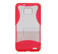Protective Case & Stand for Samsung i9100 (Red)