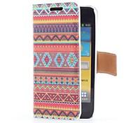 Azteca del cuero del estilo tribal con ranura para tarjeta y el soporte para I9070 Samsung Galaxy S Advance