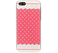 Rose Lace Cloth Pattern Plastic Hard Back Case Cover for iphone 5C