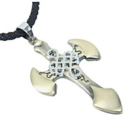 Chinese Element Christian Cross Necklace