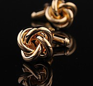 Fashionable Men's Gold Copper Knots Cufflink (Gold)(1pair)