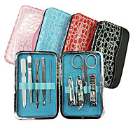 9PCS Nail Clippers Manicure Kits Within Alligator Grain Manicure Bag(Random Color)