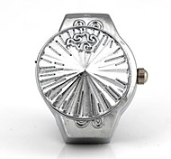 Unisex Konische Abdeckung Muster Quartz Metallic-Ring-Uhr
