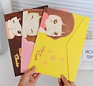 Candy Girl Padrão arquivo de papel (cor aleatória)