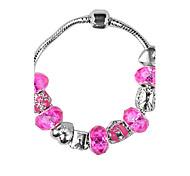 Pink Beads Strand Bracelet