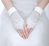 Wrist Length Fingerless Glove - Tulle Bridal Gloves/Party/ Evening Gloves