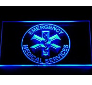 EMS Emergency Medical Services Neon Light Sign