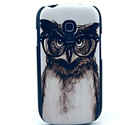 Grey Owl Cartoon Pattern Hard Case for Samsung Galaxy S3 Mini I8190