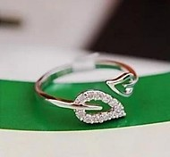 Two Leaves Diamond Couple Fashion  Rings