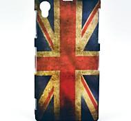 Patrón de la bandera retro británico del caso duro para Sony Xperia Z1 L39h
