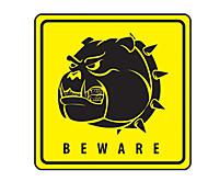 Be Warn of Dogs Pattern Decorative Car Sticker