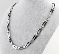 Fashion Men's  Silver Black Chain Necklace