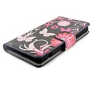 Fleur Porte-monnaie en cuir PU avec couverture de cas de stand pour Sony Xperia Z1 Compact D5503 Z1 mini-