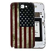 EE.UU. Flag Retro Style dura de la PC de la batería de la cubierta de para Samsung Galaxy Note N7100 2