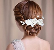 Fashion Bride Hand Sewing Roses Hair Sticks