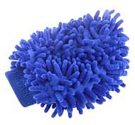 Doble-Faced elástico chenille Fibra Guantes de lavado de coches