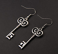 Cute Key Silver Alloy Earrings(1 Pair)