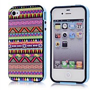 Tribal Roze Patroon TPU + PC 2-in-1 Hard Case Cover voor Apple iPhone 4/4S