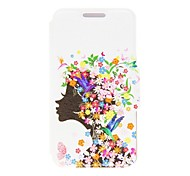 Kinston Flower Girl Pattern PU Leather Cover for iPhone 6
