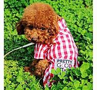 Pet Red Plaid Shirt para Mascotas Perros (tamaños surtidos)