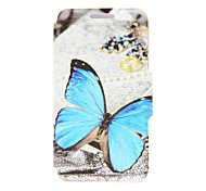For HTC Case Card Holder / with Stand / Flip Case Full Body Case Butterfly Hard PU Leather HTC