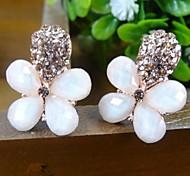 Z&X®  High Grade Gem flower Rhinestone Stud Earrings
