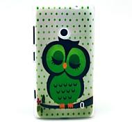 Smart Sleeping Owl Pattern Hard Case for Nokia Lumia N520
