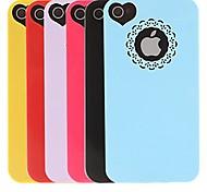 Scavi fuori cassa del fiore del PC Cuore dura per iPhone 4/4S (colori assortiti)