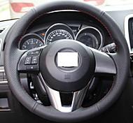 Xuji ™ черный кожаный руль чехол для 2012 2013 Mazda CX-5 CX5 Mazda Atenza 2014 Mazda 3