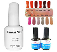 2PCS 14ml UV Top Coat Gel&Base Gel+1PCS 15ml UV Color Gel 12 Assorted Color NO.61-72