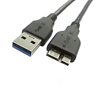 100cm USB 3.0 A Male to Micro B Male data charge cable for Galaxy Note3 N9000 N900 & S5 i9600 Black