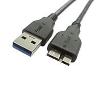 USB3.0 un varón al micro del cable de carga de datos b macho para samsung nota pro& ibm thinkpad tablet 8 0.6m 2 pies