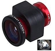 3-in-1 0.67X Wide Angle Lens Fisheye180 Degree Lens Macro Lens Set for iPhone 5/5S-Red