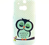 Beautiful Sleeping Owl Pattern Hard Case for HTC One 2 M8