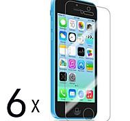 [6-Pack] premium de alta definición Protectores de pantalla Clear para iPhone 5C